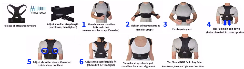 Full Back Brace For Men Instructions Horizontal