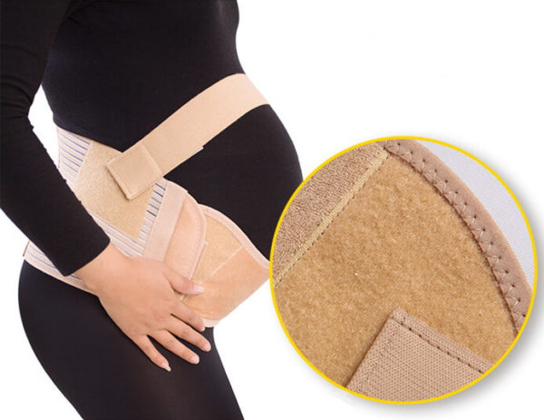 Pregnancy Back Support Sideview and Closeup
