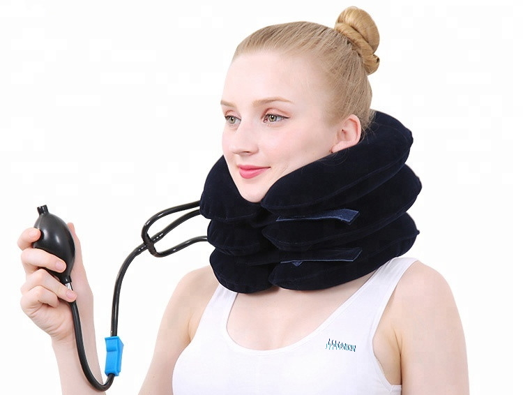 Wearing the Inflatable Neck Brace
