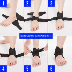 How to wear The Elastic Ankle Brace
