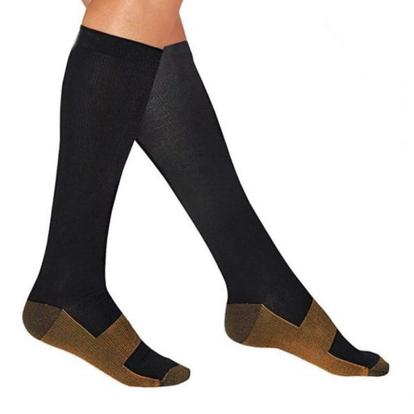 Black Copper Compression Socks