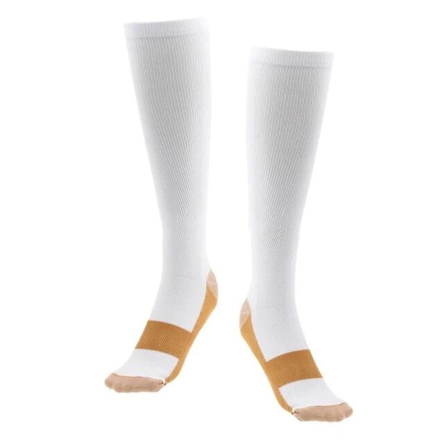 Copper Compression Socks White Color
