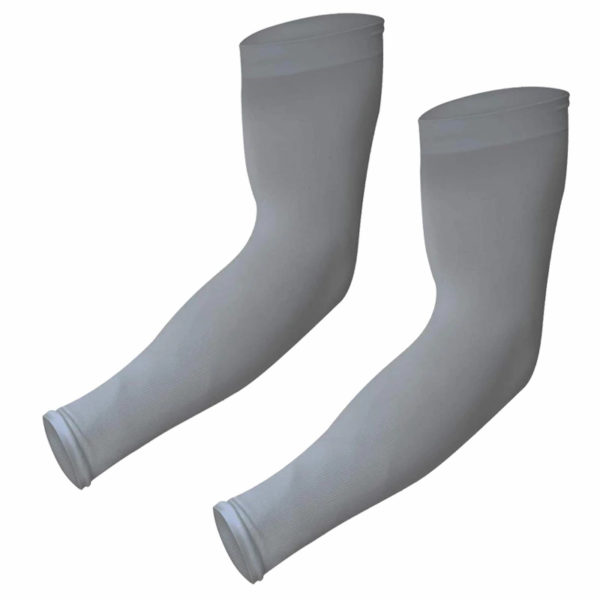 Gray Compression Arm Sleeves