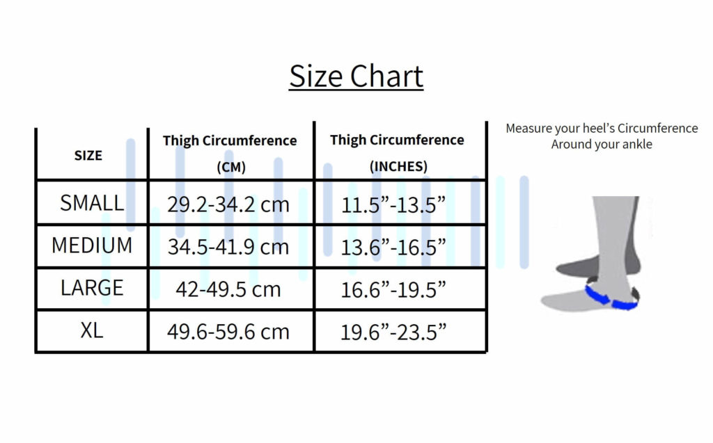 Compression Ankle Sleeves Size Chart